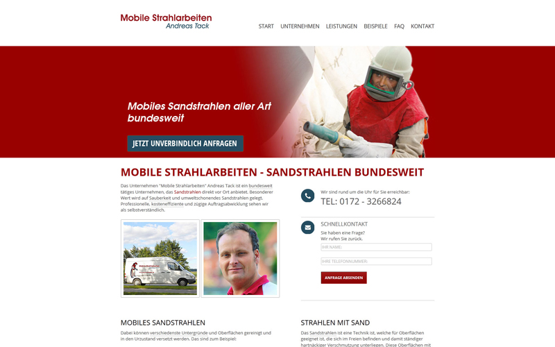 Mobile Strahlarbeiten Andreas Tack